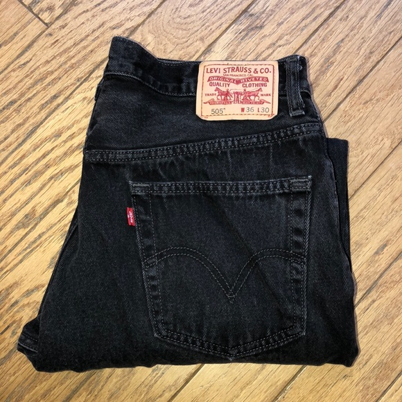 1cfd601e867 Levi's Jeans   Mens Levis 505 Straight Leg Black 36 X 30   Poshmark